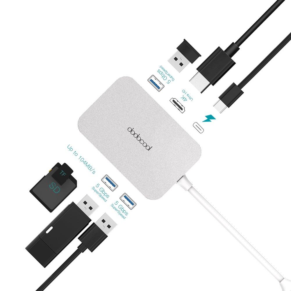 dodocool Hub USB C 7 in 1 con Consegna 4K Video HD