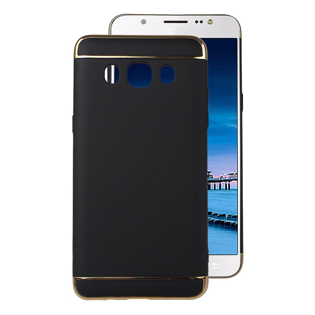 Galaxy j5 2016ハードケース、Galaxy j510カバー、ピンクリボン運動3in1リジッドプラスチックハードPCバックカバーケースwith Two Headsメッキ保護スキンシェルケースカバーfor Samsung Galaxy j510 2016バージョン ブラック KUN2017061827 B073CHG8D9