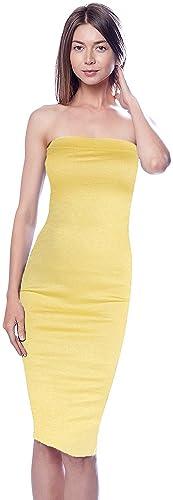 DNA Couture Women's Basic Strapless Bodycon Mini Tube Dress