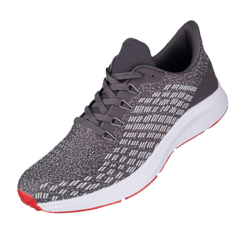 refulgence Outdoor Mesh Breathable Running Shoes Outdoor Casual Sneakers Shoes Travel Shoes(Gray,US:9.5) by refulgence