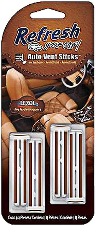 09480 4-Pack Fine Leather Fragrance Refresh Your Car Auto Vent Sticks