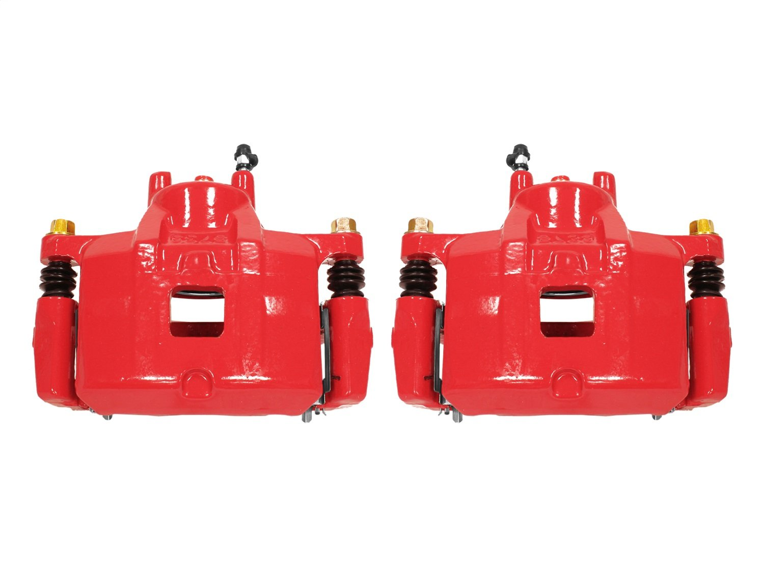 Power Stop S5032A Front Red Powder Coated Performance Caliper Set
