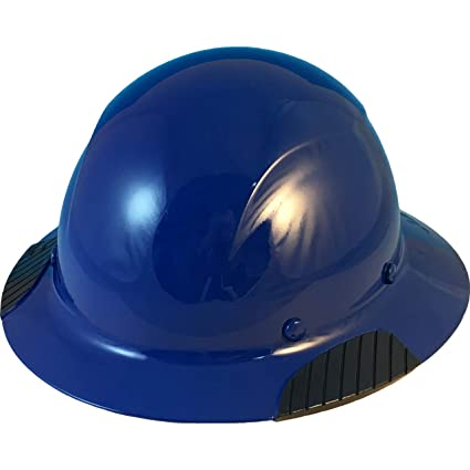 Texas America Safety Company Actual Carbon Fiber Material Hard Hat with  Hard Hat Tote- Full Brim, Royal Blue