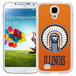 Fashionable And Unique Designed With Ncaa Big Ten Conference Football Illinois Fighting Illini 5 Protective Cell Phone Hardshell Cover Case For Samsung Galaxy S4 I9500 i337 M919 i545 r970 l720 Phone Case White