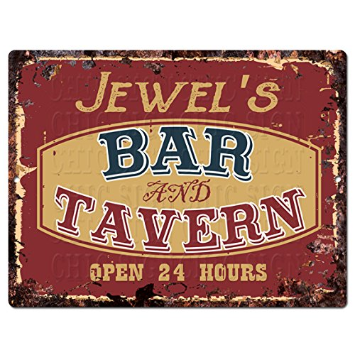 (Jewel'S BAR and Tavern Tin Chic Sign Rustic Vintage Style Retro Kitchen Bar Pub Coffee Shop Decor 9