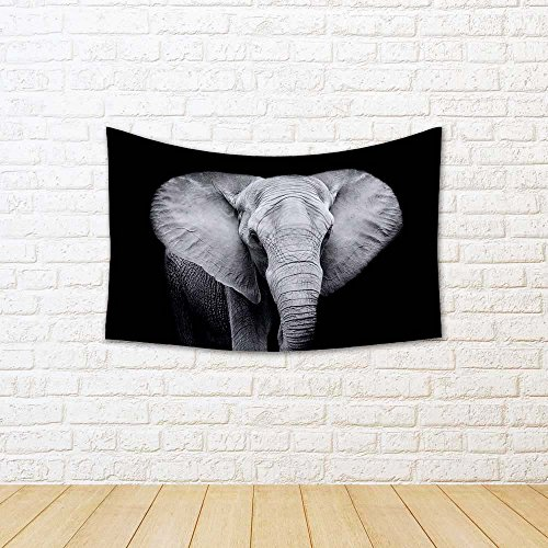 ArtzFolio Elephant Canvas Tapestry Wall Hanging 36 x 24inch
