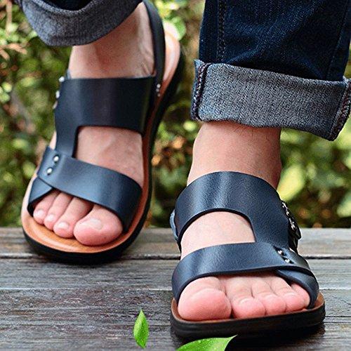 Antiscivolo Blue Sandali Sport Toe Sandali Open da Comodi Estate Sandali Uomo Outdoor Casual A747qw8