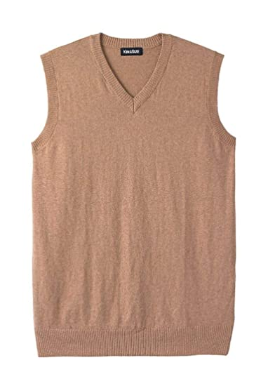 Kingsize Mens Big Tall Lightweight V Neck Sweater Vest At Amazon