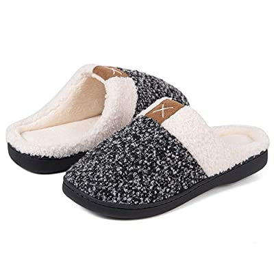 Women's Memory Foam Slippers Comfort Wool-Like Plush Fleece Lined House Shoes for Indoor & Outdoor | Slippers