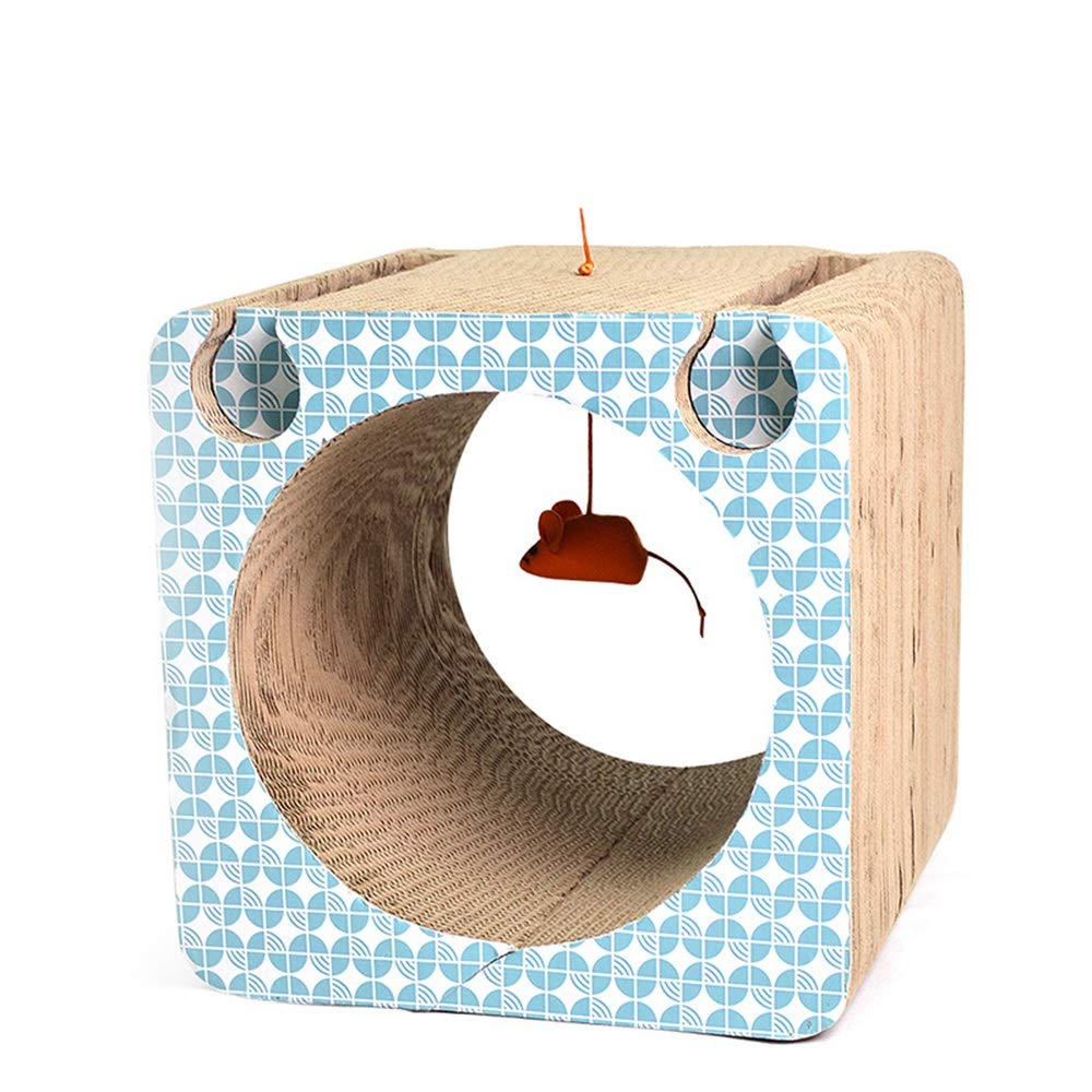 As Picture 333331cm As Picture 333331cm FELICIGG Pet Toy Creative Cat Claw Plate Cat Toy Square Corrugated Paper Cat Scratch Board. (color, Size   33  33  31cm)