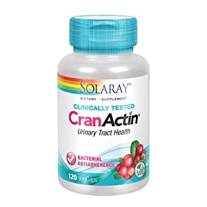 Solaray CranActin Cranberry Extract Bacterial Anti-Adherence Formula | Healthy Urinary Tract & Bladder Support | Vitamin C Immune Boost | 120 VegCaps