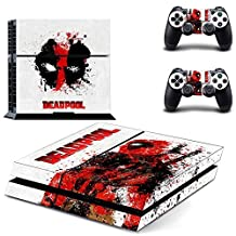 CloudSmart Deadpool Sony Playstation 4 Skin Sticker Vinyl Stickers for PS4 Console x1 Controller Skins x2 by CloudSmart