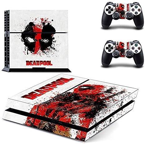 Playstation 4 + 2 Controller Design Sticker Protector Set - Deadpool /PS4 by THTB: Amazon.es: Videojuegos