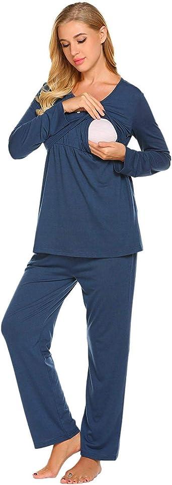 Pijamas De Lactancia Para Mujeres Pijama De Maternidad De ...