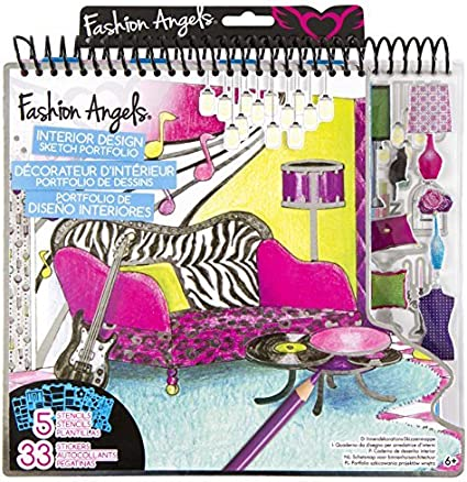Amazon Com Fashion Angels Interior Design Sketch Portfolio By Fashion Angels Toys Games