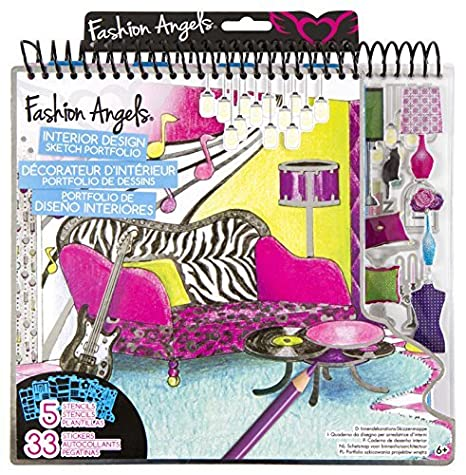 amazon com fashion angels interior design sketch portfolio by rh amazon com