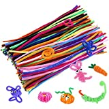 Caydo Pipe Cleaners Chenille Stem 6 mm x 12 Inch, Assorted Colors