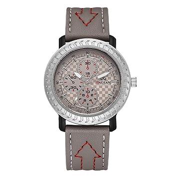 Longra Relojes de Cuarzo analógicos exclusivos para Negocios, Casual Fashion 44mm Buckle Wrist Business Relojes para Hombres: Amazon.es: Deportes y aire ...