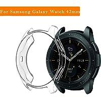 Cooljun pour Samsung Galaxy Watch 42mm,Housse de Protection en Silicone Ultra-Mince et Souple en TPU