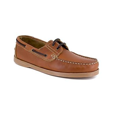 J.BRADFORD Mocassin Bateau Cuir Marron JB-SAIL - Couleur - Marron, Taille Chaussures - 44