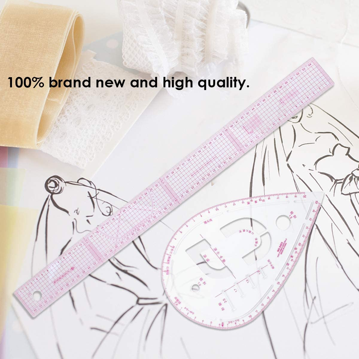 7pcs French Curve Sewing pattern Ruler For Dressmaking Tailor Measure Home Tool
