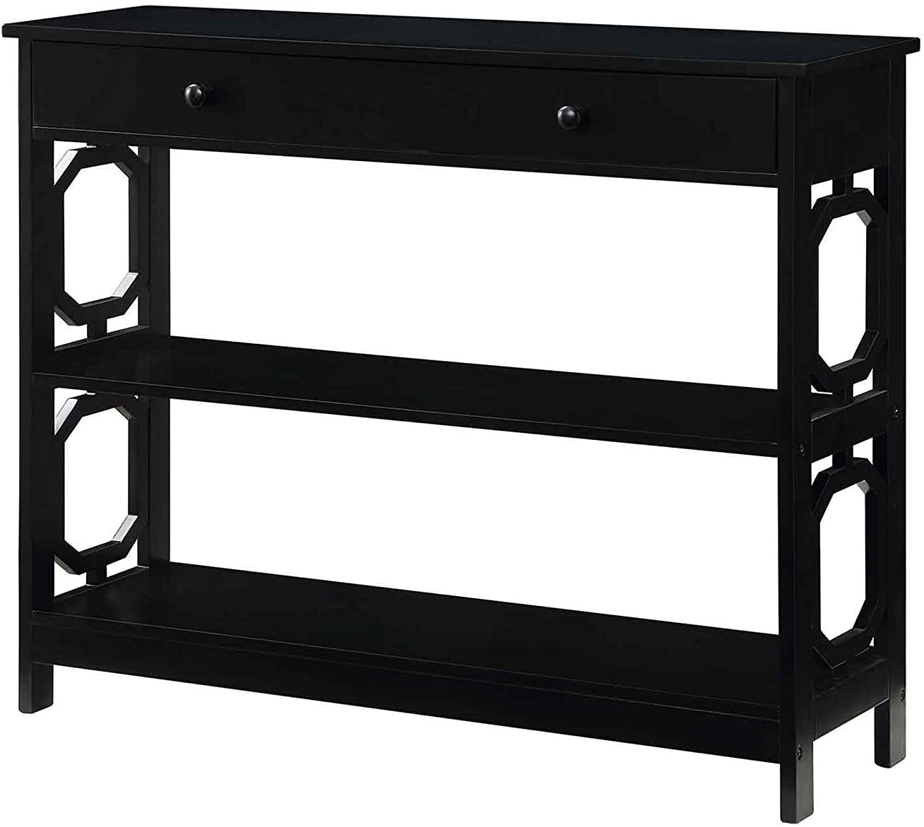 Convenience Concepts Omega 1 Drawer Console Table, Black