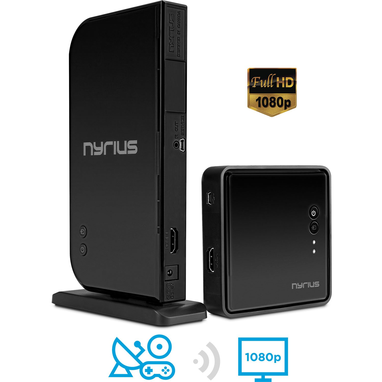 Nyrius ARIES Home HDMI Digital Wireless Transmitter Receiver For HD 1080p Video Streaming Cable Box Satellite Bluray