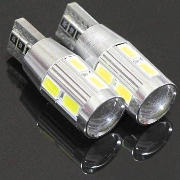 4X White Samsung High Power T10 921 10W Projector LED Backup Reverse Light Bulbs