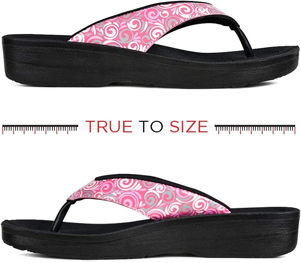 AEROTHOTIC Original Orthotic Comfort Thong Style Flip Flops Sandals for Women with Arch Support for Comfortable Walk