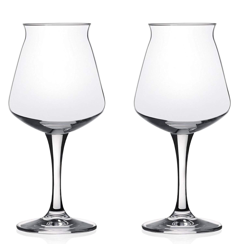 Rastal Teku Stemmed Beer Glass - 14.2 oz - 2 Pack by KegWorks