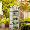 Worth Garden Portable Greenhouse Indoor Outdoor Plant Gardening Green House with Cover and Roll-up Zipper Door from Worth Garden