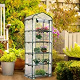 Worth 5 Tier Mini Greenhouse with Clear Polyethylene Cover, 27' Long x 19' Wide x 75' High Garden Green House