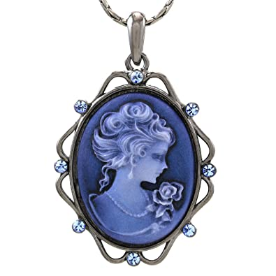 Amazon soulbreezecollection cameo pendant necklace charm women soulbreezecollection cameo pendant necklace charm women fashion jewelry blue aloadofball Choice Image