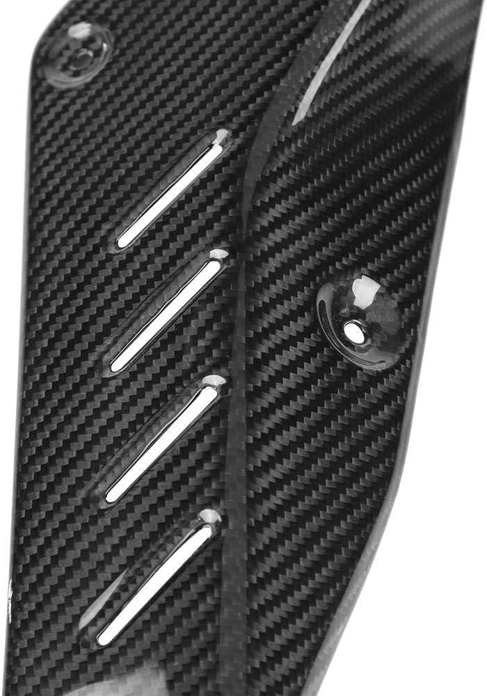 coperchio di protezione in fibra di carbonio per MT-10//FZ-10 2016-2018 Qiilu Scudo termico per tubo di scarico moto