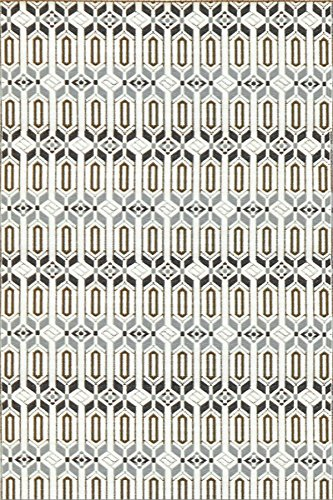 (Mad Mats Moroccan Indoor/Outdoor Floor Mat, 6 by 9-Feet, Cool Silver)