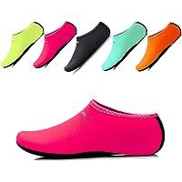 JIASUQI Enfants, Femmes et Hommes Classique Pieds Nus Chaussures de Sport d'eau Chaussures Aqua Chaussettes pour Plage Natation Surf Yoga Exercice