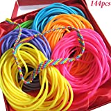 Toys : Adorox 144 Bracelets Neon Jelly Bracelets Rainbow Colors Party Favors Birthday Gifts Prizes Assorted (Assorted (144 Bracelets))