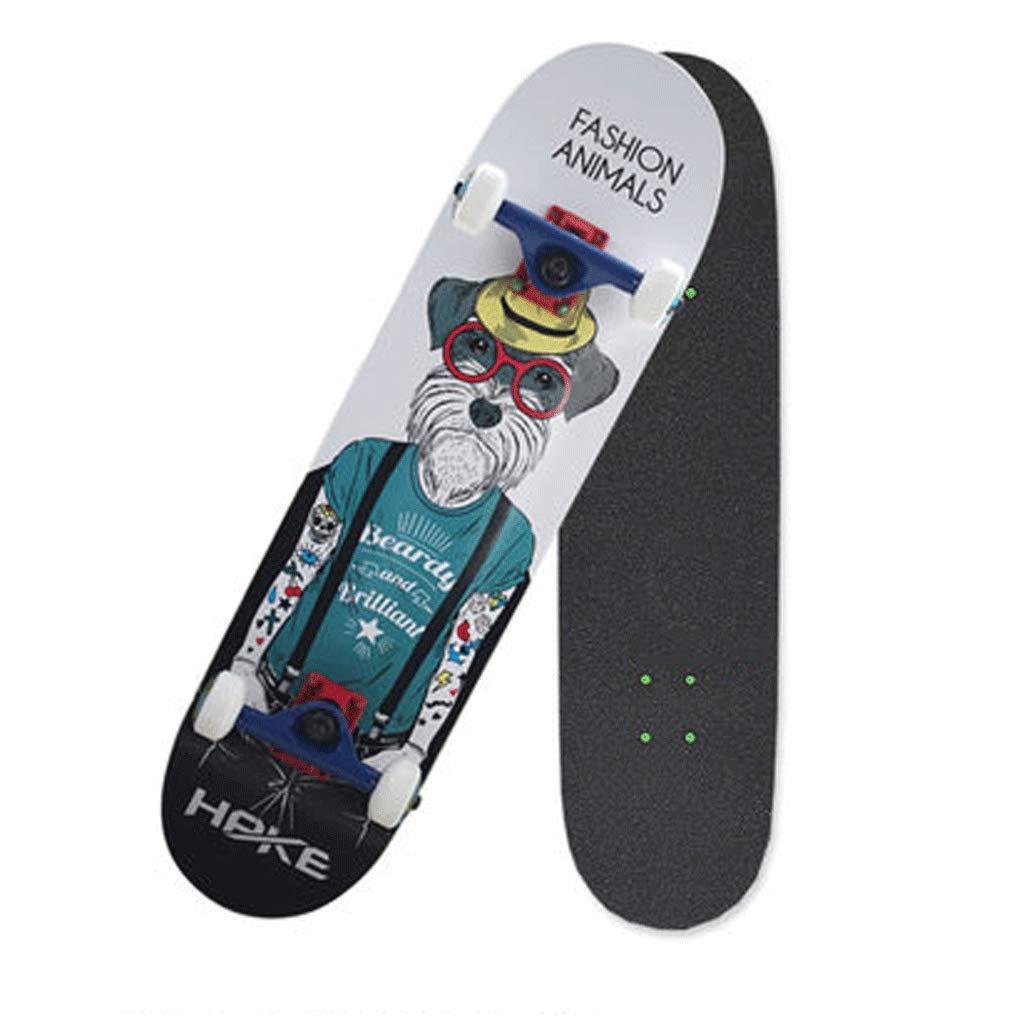 最新発見 プロフェッショナルスケートボード初心者大人の子供の男の子と女の子ロードストリートアクションスケートボード両側傾斜板 (色 Shapi) : Shapi) B07KW41119 (色 Schnauzer Schnauzer Schnauzer, ビキヤ:7b7d52c2 --- a0267596.xsph.ru