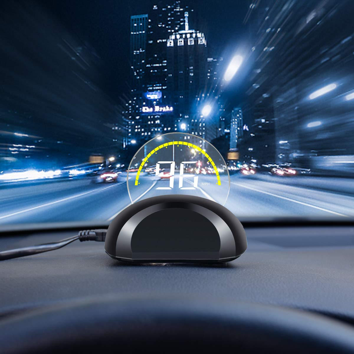 DRIVIM Car HUD Head Up Display [OBD2], Multifunctional Car Speed Display  Projector with/Engine RPM/Voltage/Safety Water Temperature Monitor, Vehicle