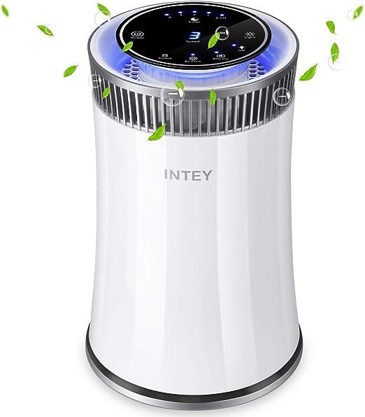 INTEY Purificador de aire Hepa - Smart 8H Timer Luz de noche azul ...