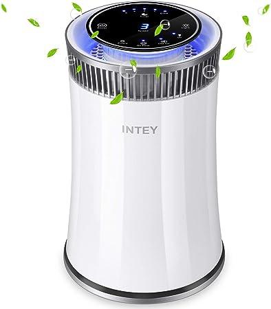 INTEY Purificador de aire Hepa - Smart 8H Timer Luz de noche azul para el hogar - Elimina 99.97% alergias, humo, polvo, polen, caspa de mascotas: Amazon.es: Hogar