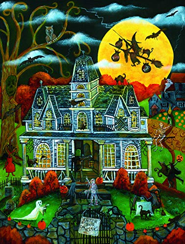 Sunsout 2019 Halloween Potions and Tricks by Artist Cheryl Bartley 500 Piece Halloween Jigsaw Puzzle