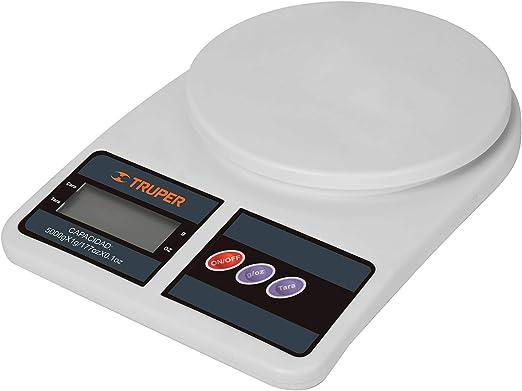 Truper BASE-5EP Báscula digital base plástica para cocina capacidad 5kg, color, pack of/paquete de 1: Amazon.com.mx: Herramientas y Mejoras del Hogar