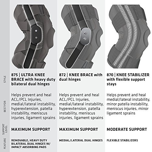 Hinged Knee Brace: Shock Doctor Maximum Support Compression Knee Brace - For ACL/PCL Injuries, Patella Support, Sprains, Hypertension and More for Men and Women - (1 Knee Brace, Large) by Shock Doctor (Image #4)