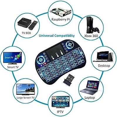 ouhuang Mini inalámbrico remoto teclado ratón para Samsung LG SMART TV Android KODI TV CAJA: Amazon.es: Electrónica