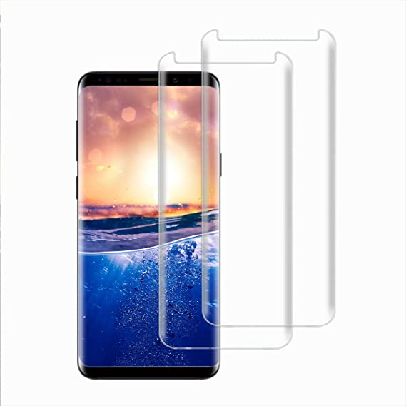 new product a6f03 9f08b Samsung Galaxy S8/S8 Plus S9/S9 Plus Slim Removable Stand Protection S-View  Mirror flip Cover (Screen Protector Clear 2 Pack, Galaxy S9 Plus)