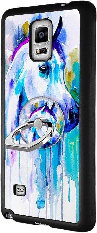 Animaux Coque Samsung Galaxy Note 4 avec bague de support, Noir ...