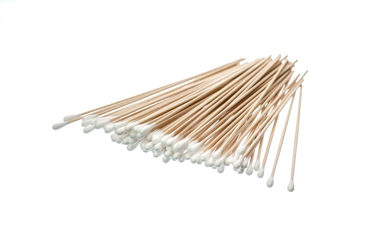 SE CS100-6-4 6 Cotton Swabs with Wooden Handles (4 Packs of 100) Sona Enterprises