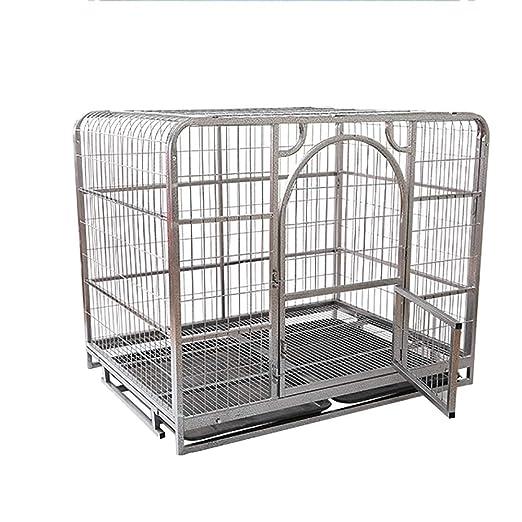 Jaula para Perros con Una Sola Puerta De Metal Plegable Jaula para ...