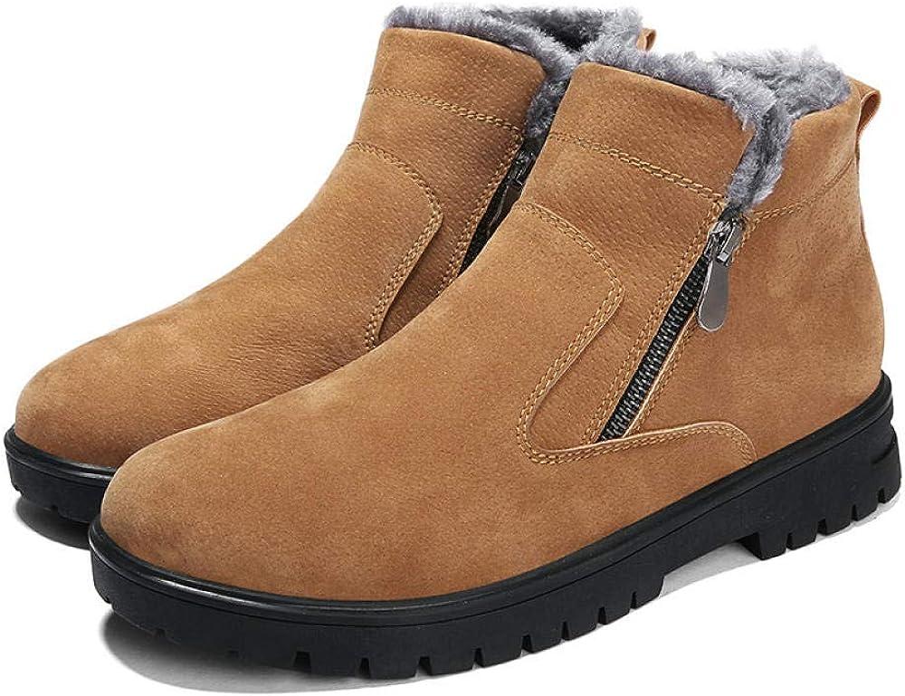 Botas para Hombre Botas De Nieve Cálidas Al Aire Libre De Invierno Zapatos De Senderismo Antideslizantes Altos para Ayudar A Los Zapatos De Hombres